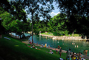 Barton Springs Pool in Austin Texas is a natural springfed pool that has come under increasing pressure from urbanization of the Texas Hill Country, July 14, 2007.