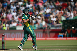 Rilee Rossouw of South Africa pulls a delivery through the leg side to bring up his century during the 5th ODI match between South Africa and Australia held at Newlands Stadium in Cape Town, South Africa on the 12th October  2016<br /> <br /> Photo by: Shaun Roy/ RealTime Images