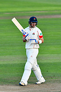 Liam Livingstone of Lancashire during the Specsavers County Champ Div 1 match between Somerset County Cricket Club and Lancashire County Cricket Club at the Cooper Associates County Ground, Taunton, United Kingdom on 14 September 2017. Photo by Graham Hunt.
