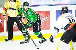 14.11.2014, Hala Tivoli, Ljubljana, SLO, EBEL, HDD Telemach Olimpija Ljubljana vs Dornbirner Eishockey Club, 18. Runde, in picture Ziga Pesut (HDD Telemach Olimpija, #11) during the Erste Bank Icehockey League 18. Round between HDD Telemach Olimpija Ljubljana and Dornbirner Eishockey Club at the Hala Tivoli, Ljubljana, Slovenia on 2014/11/14. Photo by Matic Klansek Velej / Sportida