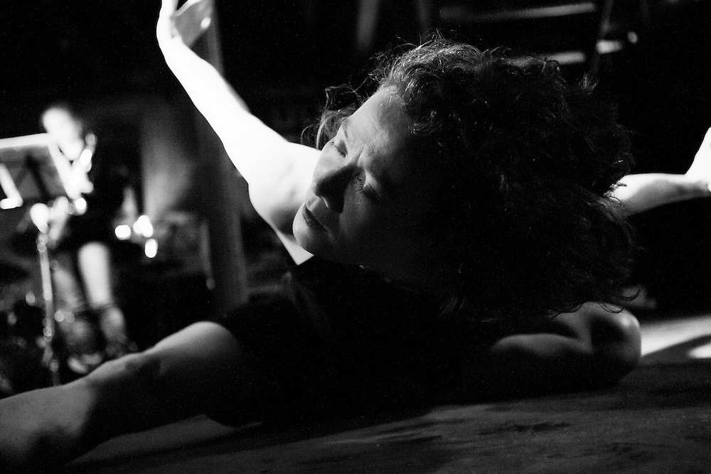 Mai practices Butoh, a dance first inspired by Expressionism that originated in Japan in the 60's and encourages performers to focus on their inner world through a primal relation to the body.