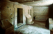 Tomb of Necropolis. Cerveteri (Caere) Italy. Etruscan.