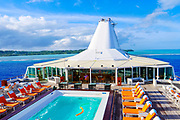 Paul Gauguin cruise ship, , Aitutaki, Cook Islands, South Pacific