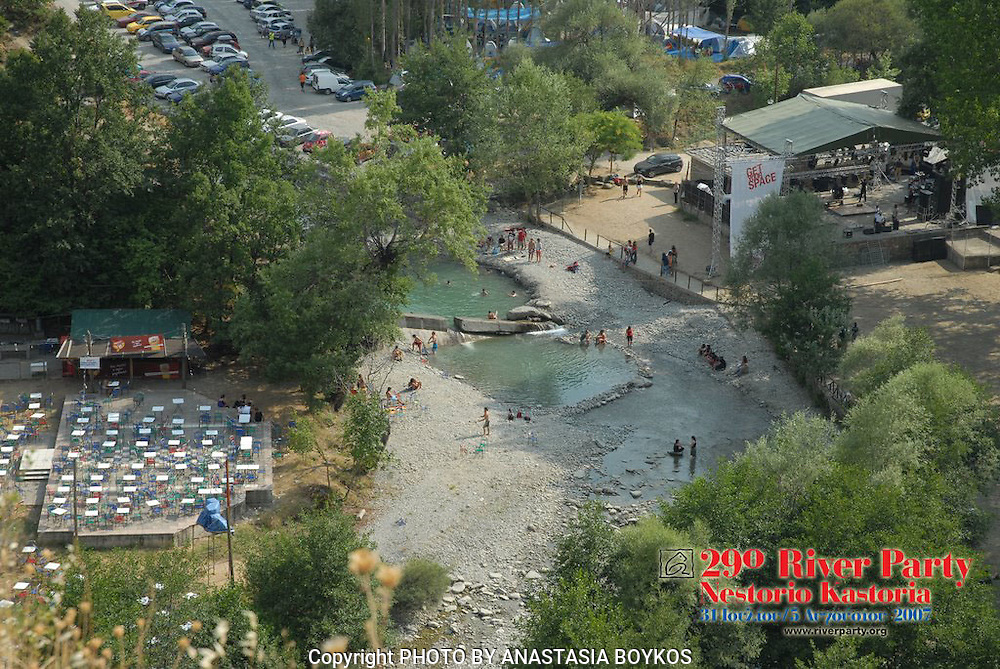 A panoramic view of the River Party area