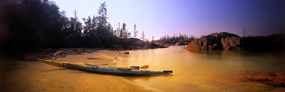 Richard Furhoff_999001_SeaKayaks.tif  .Sea Kayaks, Pukaskwa National Park, Lake Superior, Ontario, Canada..
