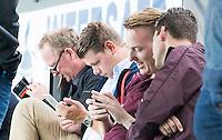 ROTTERDAM -HOCKEY - ABN AMRO CUP , als voorbereiding op de competitie. arbitrage met oa Coen van Bunge, Scheidsrechter Maarten Boxma ,  Philip Schellekens,  COPYRIGHT KOEN SUYK