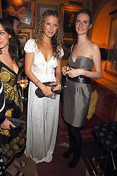 Left to right, KATE MELHUISH and CHLOE DELEVIGNE at a dinner hosted by fashion label Issa at Annabel's, Berekely Square, London on 24th April 2007.<br />