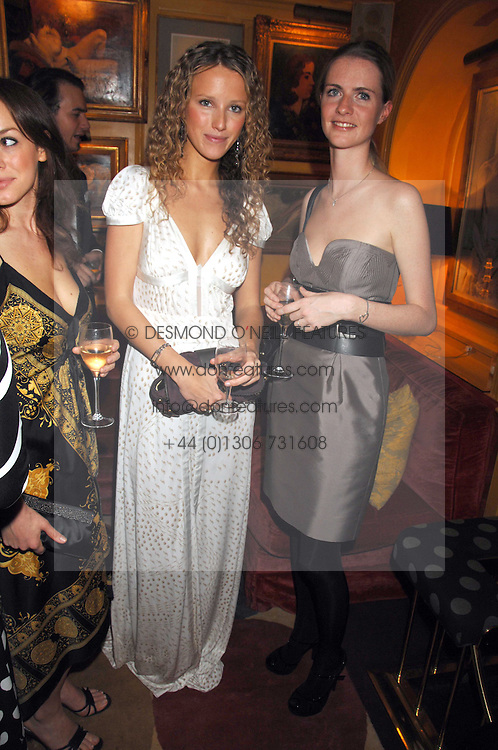 Left to right, KATE MELHUISH and CHLOE DELEVIGNE at a dinner hosted by fashion label Issa at Annabel's, Berekely Square, London on 24th April 2007.<br /><br />NON EXCLUSIVE - WORLD RIGHTS