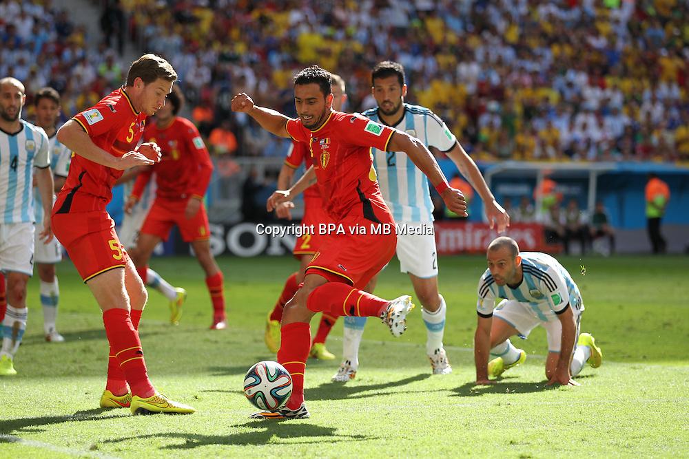 Nacer Chadli. Argentina v Belgium, quarter-final. FIFA World Cup 2014 Brazil. National stadium, Brasilia. 05 July 2014