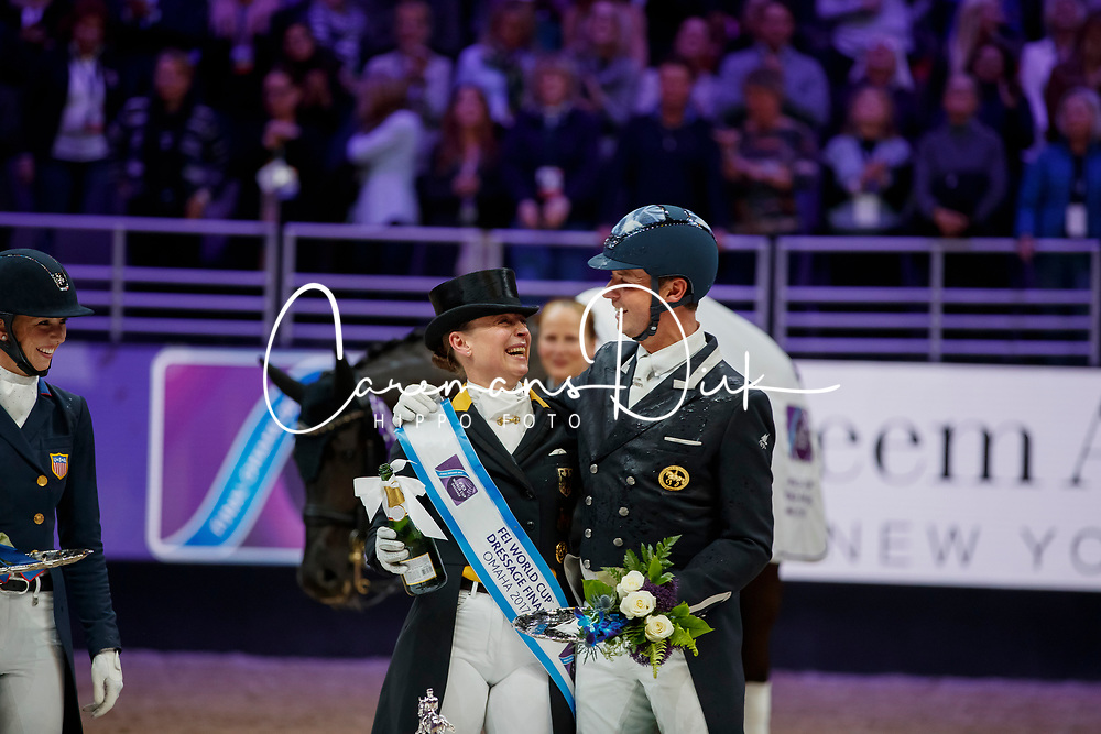 Werth Isabell, GER, Hester Carl, GBR<br /> Grand Prix Freestyle<br /> Longines FEI World Cup Dressage, Omaha 2017 <br /> © Hippo Foto - Stefan Lafrentz<br /> 01/04/2017