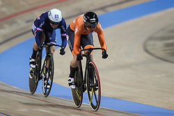 February 28, 2019 - Pruszkow, Poland - Mathilde Gros (FRA),Laurine Van Riessen (NED) - Women's sprint on day two of the UCI Track Cycling World Championships held in the BGZ BNP Paribas Velodrome Arena on February 28, 2019 in Pruszkow, Poland. (Credit Image: © Foto Olimpik/NurPhoto via ZUMA Press)