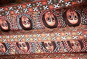 Africa, Ethiopia, Gondar Painted ceiling in the Church of Debre Birhan Selassie painting of 80 cherubic faces
