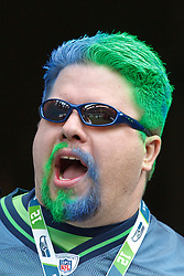December 5, 2010; Seattle, WA, USA;  A Seattle Seahawks fan before the game against the Carolina Panthers at Qwest Field.