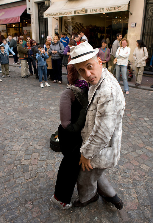 Street performer in San Telmo, Buenos Aires, Argentina