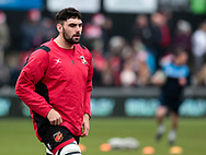 Dragons' Cory Hill<br /> <br /> Photographer Simon King/Replay Images<br /> <br /> Guinness Pro14 Round 11 - Dragons v Cardiff Blues - Tuesday 26th December 2017 - Rodney Parade - Newport<br /> <br /> World Copyright &copy; 2017 Replay Images. All rights reserved. info@replayimages.co.uk - www.replayimages.co.uk