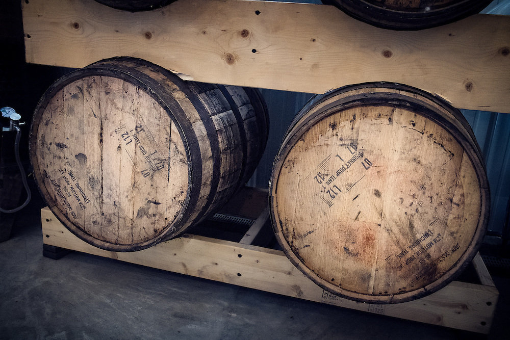 Bourbon Barrels used to age the Farmhouse Hard Cider
