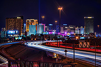 Las Vegas Freeway (Interstate 15) @ Night