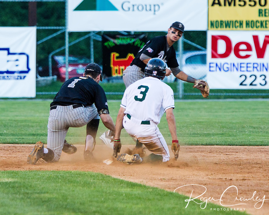 The Danbury Westerners took advantage of six Mountaineer errors en route to an 11-2 victory at Montpelier Recreation Field on Wednesday night in New England Collegiate Baseball League (NECBL) action.