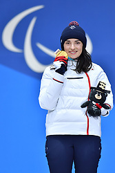 BOCHET_Marie, ParaSkiAlpin, Para Alpine Skiing, Super G, Podium at PyeongChang2018 Winter Paralympic Games, South Korea.