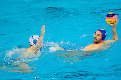 Petar Muslim of Primorje vs Evaggelos Delakas of Olympiacos during water polo match between Primorje Erste Bank (CRO) and Olympiacos Piraeus (GRE) in 8th Round of Champions League 2016, on April 16, 2016 in Kantrida pool, Rijeka, Croatia. Photo by Vid Ponikvar / Sportida