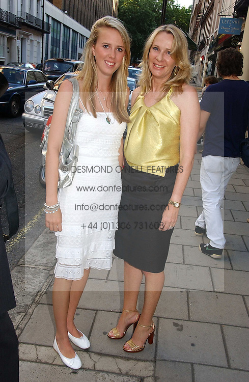Left to right, the HON.DAISY BELL and her mother LADY BELL at an exhibition of photographs by David Montgomery entitled 'Shutterbug' held at Scream, 34 Bruton Street, London W1 on 13th July 2006.<br /><br />NON EXCLUSIVE - WORLD RIGHTS