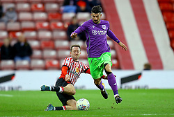 Eros Pisano of Bristol City is tackled by Aidan McGeady of Sunderland - Mandatory by-line: Robbie Stephenson/JMP - 28/10/2017 - FOOTBALL - Stadium of Light - Sunderland, England - Sunderland v Bristol City - Sky Bet Championship