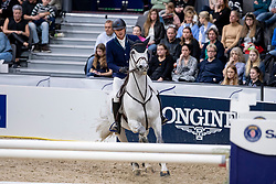 MATHY Francois Jr (BEL), Casanova de L' Herse<br /> Göteborg - Gothenburg Horse Show 2019 <br /> Gothenburg Trophy presented by VOLVO<br /> Int. jumping competition with jump-off (1.55 m)<br /> Longines FEI Jumping World Cup™ Final and FEI Dressage World Cup™ Final<br /> 06. April 2019<br /> © www.sportfotos-lafrentz.de/Stefan Lafrentz