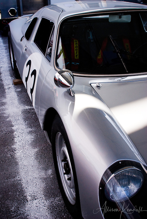 Classic car, silver and black