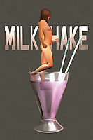 The image of a milkshake can lead us to a number of different thoughts and memories. This is the first element to this piece that you will want to consider. The next thing you are going to want to keep in mind is the fact that this is perhaps a very, very large glass of milkshake. You could also make the case that the nude woman stepping into the milkshake is very, very tiny. There is a case to be made for either possibility. Regardless of what you perceive, this is a compelling piece of art that can make for a fine addition to your space. .<br />