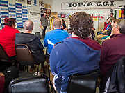 06 DECEMBER 2019 - DES MOINES, IOWA: US Senator Bernie Sanders' campaign volunteers undergo canvassing training in Des Moines Friday. As the date of the Iowa caucuses approaches, many of the campaigns are ramping up their voter outreach efforts. The event was part of Sanders' campaign to be the Democratic presidential nominee in 2020. Iowa hosts the first selection event of the presidential election cycle. The Iowa Caucuses are Feb. 3, 2020.    PHOTO BY JACK KURTZ