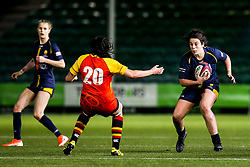 Sioned Harries of Worcester Warriors Women takes on Freya Aucken of Richmond Women - Mandatory by-line: Robbie Stephenson/JMP - 11/01/2020 - RUGBY - Sixways Stadium - Worcester, England - Worcester Warriors Women v Richmond Women - Tyrrells Premier 15s