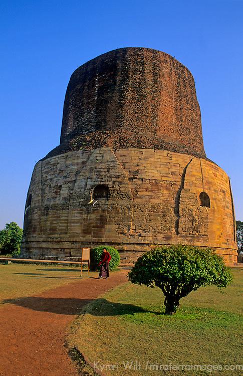 Asia, India, Sarnath. Dharmekh Stupa.