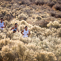 110111       Brian Leddy<br /> Students from Rehoboth and Navajo Pine run through the sagebrush during a cross country meet at Rehoboth Frdiay afternoon. Clear skies and very little wind made for a perfect day of running.