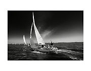 Members of the Corinthian Yacht Club race their J22 sailboats on the Delaware River Wednesday evening near the club in Essington , PA. Ed Hille