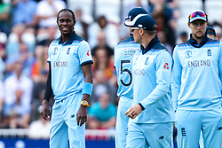 Jofra Archer of England cuts a frustrated figure - Mandatory by-line: Robbie Stephenson/JMP - 03/06/2019 - CRICKET - Trent Bridge - Nottingham, England - England v Pakistan - ICC Cricket World Cup 2019 Group Stage
