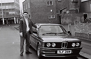 Laul Clements with his new Beemer, London, UK, 1987.