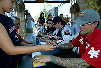 Jul 01, 2003; Anaheim, California, USA; Moto X star athlete MIKE METZGER signs autographs at the opening of Disney's California Adventure &quot;X Games Experience&quot;.  Disney park has built two X-Arena's specifically for this 41 day event highlighting extreme sports for the launch of the 2003 ESPN X Games.<br />