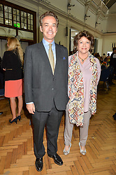 HENRY DENT-BROCKLEHURST and his mother LADY ASHCOMBE at a lunch in aid of the charity African Solutions to African Problems (ASAP) held at the Royal Horticultural Hall, Vincent Square, London on 19th May 2016.