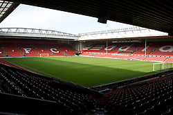 The view of the Anfield pitch from the Anfield Road Lower Stand, centre of Block 129.