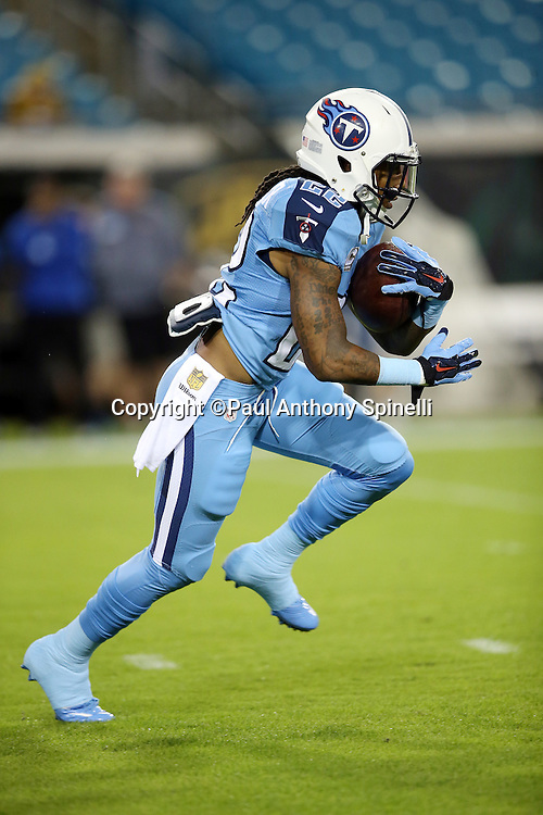 Tennessee Titans running back Dexter McCluster (22) runs the ball during the 2015 week 11 regular season NFL football game against the Jacksonville Jaguars on Thursday, Nov. 19, 2015 in Jacksonville, Fla. The Jaguars won the game 19-13. (©Paul Anthony Spinelli)
