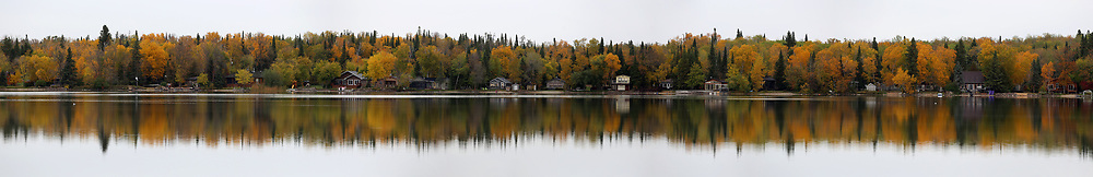 An 11 image panorama of Gull Lake, Tuesday, October 3, 2017. (Trevor Hagan)