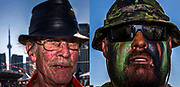 Race Day Faces of Indy Toronto: Jeff Hartery, diehard race car fan; Sargent Greg Knapp of 1 RCR, the 1st Battalion of the Royal Canadian Regiment.
