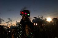 Sarii Ueno(top), daughter of Takayuki Ueno, is enjoying Firework event at Minamisoma.