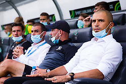 Dejan Grabic head coach of NK Bravo with face mask due to Covid-19 virus during football match between NK Bravo and NK Maribor in 34. Round of Prva liga Telekom Slovenije 2019/20, on July 15. 2020 in Stadium Stozice, Ljubljana, Slovenia. Photo by Grega Valancic / Sportida.