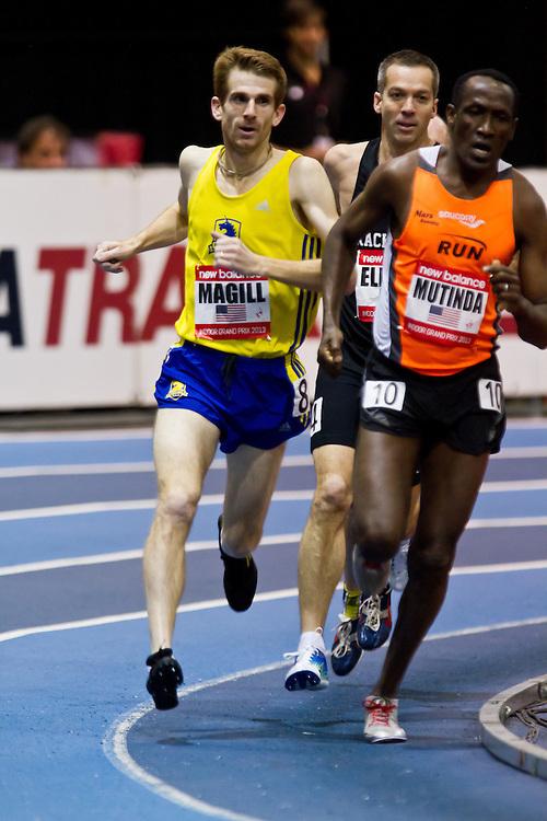 New Balance Indoor Grand Prix track meet: Men's Masters Mile, Chris Magill