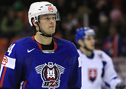 Andrej Hebar of Slovenia at ice-hockey game Slovenia vs Slovakia at second game in  Relegation  Round (group G) of IIHF WC 2008 in Halifax, on May 10, 2008 in Metro Center, Halifax, Nova Scotia, Canada. Slovakia won after penalty shots 4:3.  (Photo by Vid Ponikvar / Sportal Images)