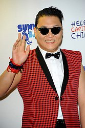 Capital Summertime Ball<br /> PSY during photocall ahead of performing at the Capital Summertime Ball, Wembley Stadium,<br /> London, United Kingdom<br /> Sunday, 9th June 2013<br /> Picture by Chris  Joseph / i-Images