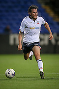 Lawrie Wilson (Bolton Wanderers) runs with the ball during the Pre-Season Friendly match between Bolton Wanderers and Burnley at the Macron Stadium, Bolton, England on 26 July 2016. Photo by Mark P Doherty.