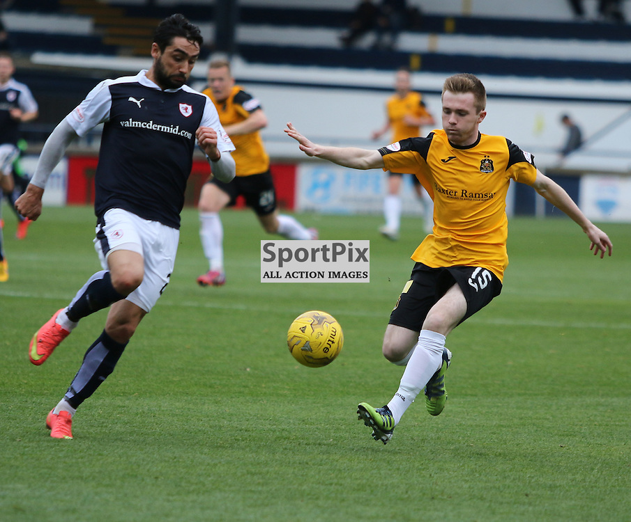 Donald McCallum runs at Raith defence  during the Raith Rovers Fc v Dumbarton FC Scottish Championship 26th September 2015 <br /> <br /> (c) Andy Scott | SportPix.org.uk