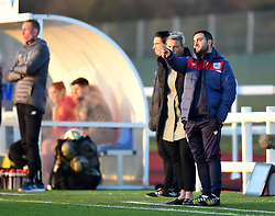 Marco Chiavetta assistant coach for Bristol City Women chats with Tanya Oxtoby manager of Bristol City Women - Mandatory by-line: Paul Knight/JMP - 17/11/2018 - FOOTBALL - Stoke Gifford Stadium - Bristol, England - Bristol City Women v Liverpool Women - FA Women's Super League 1